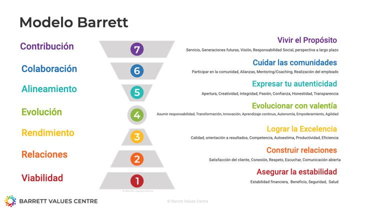 Modelo Barrett siete niveles de consciencia