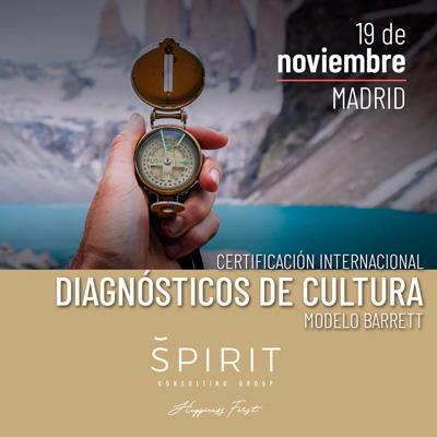 Certificación Diagnósticos Cultura Madrid Modelo Barrett formato presencial